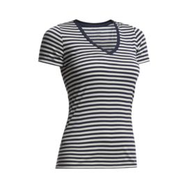Icebreaker Tech Lite Women's Short Sleeve V Stripe Tee