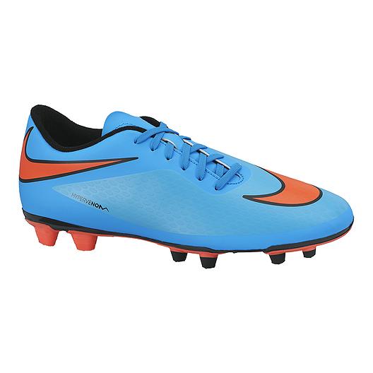 3f31c6c79a47 Nike Men s HyperVenom Phade FG Outdoor Soccer Cleats - Blue Orange Black