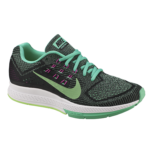605ff7ebd50 Nike Women s Air Zoom Structure 18 Running Shoes - Black Green Purple