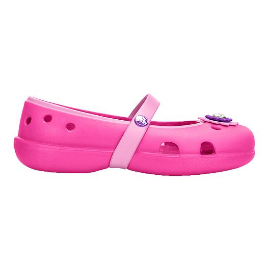 2a8a0089b83 Crocs Girls  Keeley Petal Charm Preschool Sandals - Magenta
