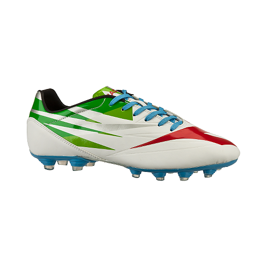 d04bee7729b Diadora Men s Stadio 1.0 FG Outdoor Soccer Cleats - White Green Blue ...