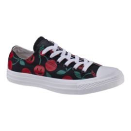 Converse Women's Chuck Taylor Ox Casual Shoes - Black/Red