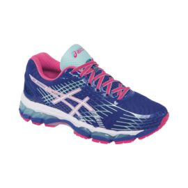 ASICS Women's Gel Nimbus 17 Running Shoes - Navy/Pink/Blue
