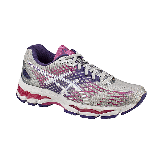 reputable site 9dbac c47c5 ASICS Women's Gel Nimbus 17 Running Shoes - Grey/Purple ...