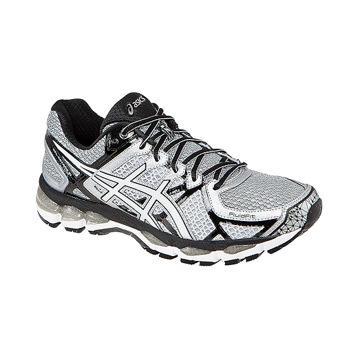 cost charm another chance get new ASICS Men's Gel Kayano 21 Running Shoes - Silver/White/Black