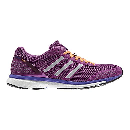 new product a58d4 8c21b ... ebay adidas womens adizero adios boost 2 running shoes purple pink  orange 42574 ffbb8