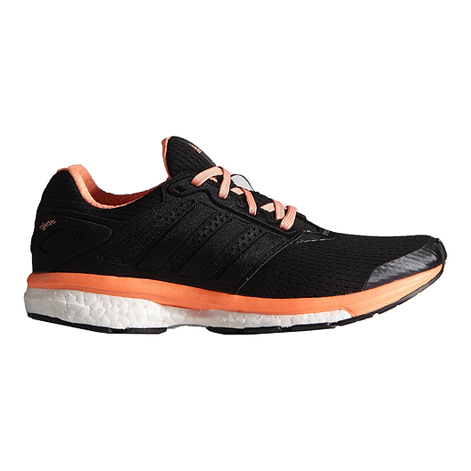 99fb7adab9646 adidas Women s Supernova Glide Boost 7 Running Shoes - Black Orange ...
