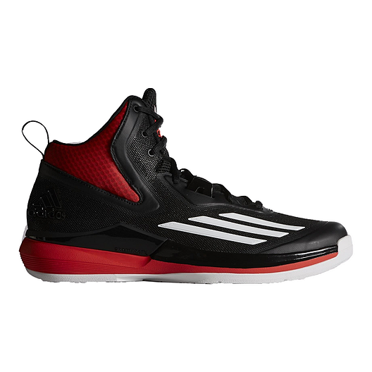 65171ed3b8c adidas Men s Title Run Basketball Shoes - Black Red