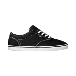 Vans Women s Atwood Low Skate Shoes - Black White  e908f7a966ad