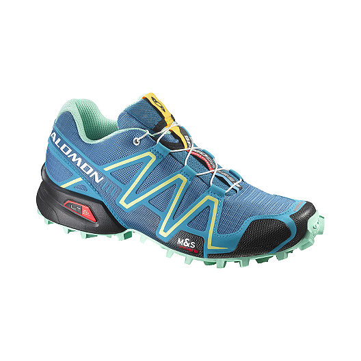 7bba66b06 Salomon Women s SpeedCross 3 Trail Running Shoes - Blue Mint Green Yellow