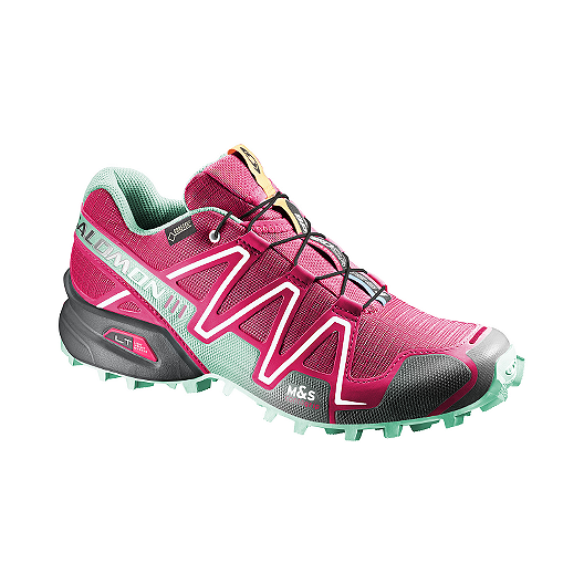 competitive price 2d7de 4e9db Salomon Women s SpeedCross 3 GTX Trail Running Shoes - Pink Green Black    Sport Chek