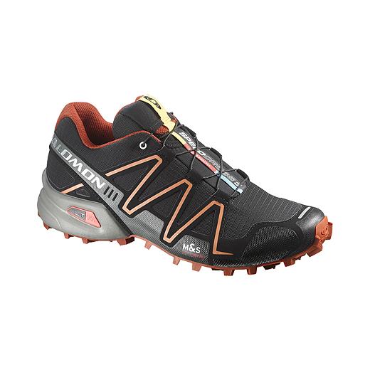 bdd5692e50cb ... Salomon Men s SpeedCross 3 Trail Running Shoes - Black Orange Grey ...