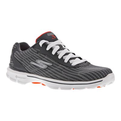 Skechers Women's Go Walk 3 Fitknit Walking Shoes - Charcoal Grey