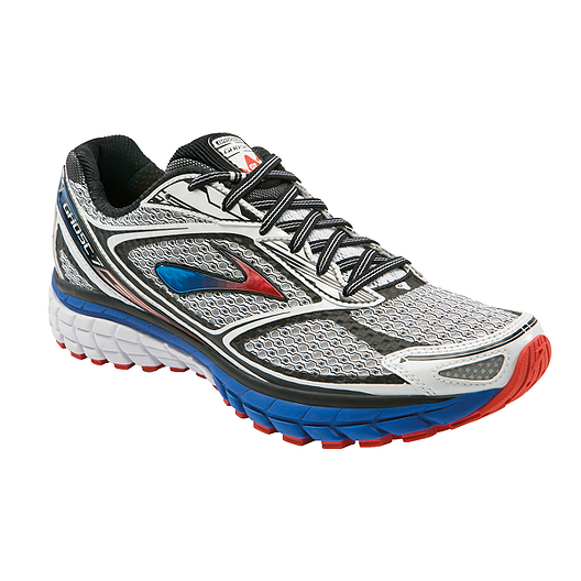 28fba1d93b0 Brooks Men s Ghost 7 Running Shoes - Silver Blue Orange