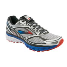 Brooks Men's Ghost 7 Running Shoes - Silver/Blue/Orange