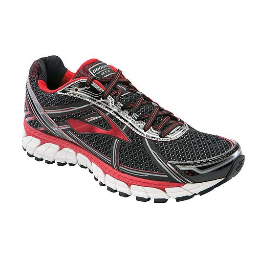 b0abe41a4ec Brooks Men s Adrenaline GTS Running Shoes - Black Red Grey
