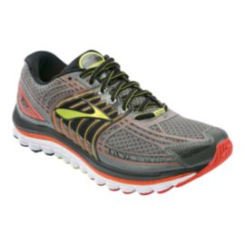 Brooks Men's Glycerine 12 Running Shoes - Grey/Orange/Yellow