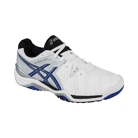f18d678b5c7 ASICS Men s Gel Resolution 6 Tennis Shoes - White Blue
