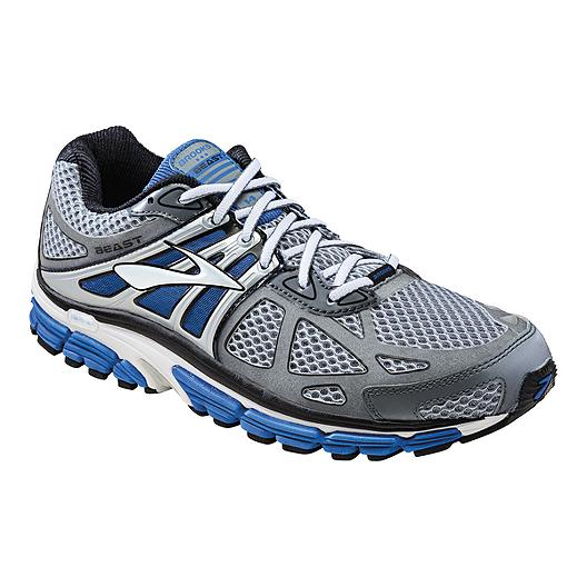 50e6291220e Brooks Men s Beast 4 Running Shoes - Silver Blue White
