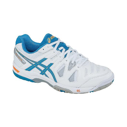 3faee2470d2e ASICS Women s Gel Game Tennis Shoes - White Blue Orange