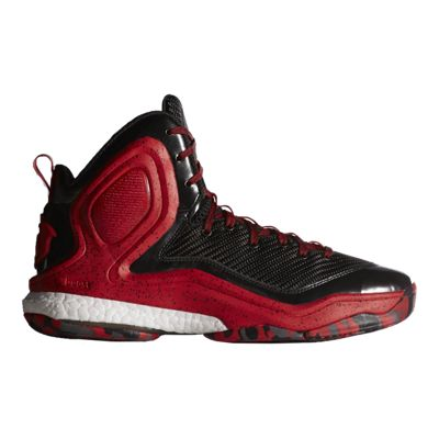 adidas Men's D Rose 5 Boost Basketball Shoes - Black/Red