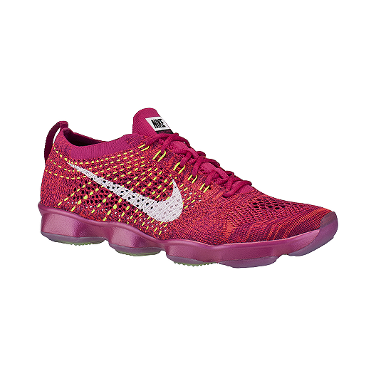 aa33997705ec Nike Women s Flyknit Zoom Agility Training Shoes - Berry Pink Orange ...