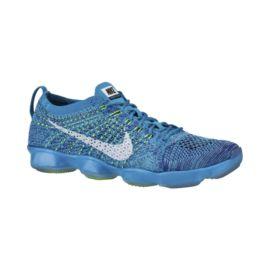 Nike Women's Flyknit Zoom Agility Training Shoes - Blue/White