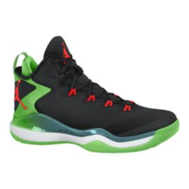 Nike Men's Jordan Super.Fly 3 Basketball Shoes - Black/Green/Red
