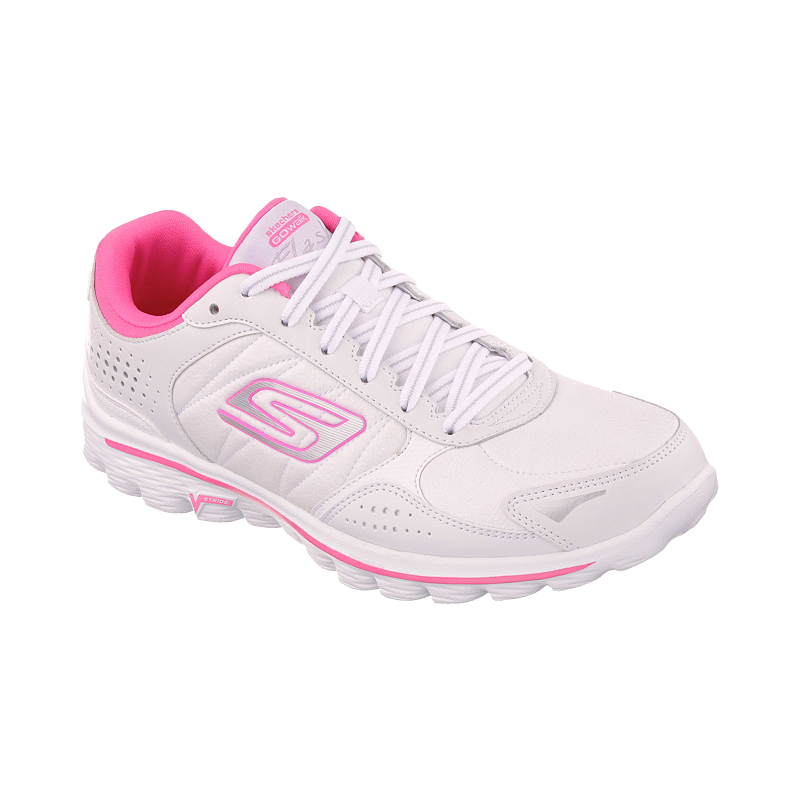 2019 original many choices of good service Skechers Women's GoWalk 2 Flash LT Shoes - White/Pink ...