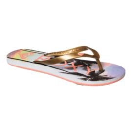 Roxy Women's Tahiti V Sandals - Rose Gold/Palm