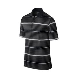 Nike Key Bold Men's Heather Stripe Golf Polo Shirt