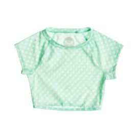 Roxy Optic Nature Polka Dot Crop Women's Rashguard