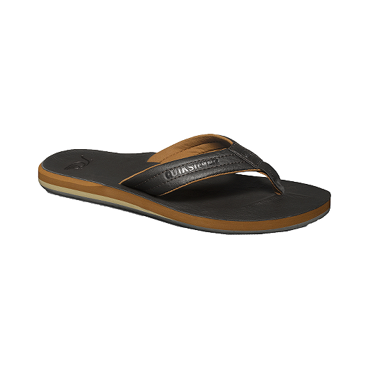 185d21e5d289 Quiksilver Men s Carver Nubuck Sandals - Black Tan