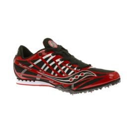 Saucony Men's Velocity 6 Track & Field Shoes - Red/Grey
