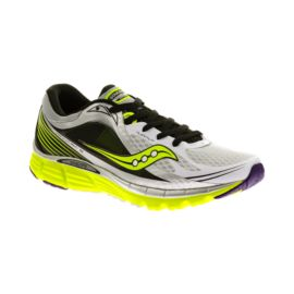 Saucony Men's PowerGrid Kinvara 5 Running Shoes - White/Black/Yellow