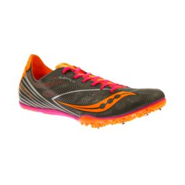 Saucony Women's Endorphin MD4 Track & Field Running Shoes - Grey/Orange/Pink