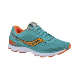 Saucony Women's Grid Shadow Genesis Running Shoes - Teal/Orange