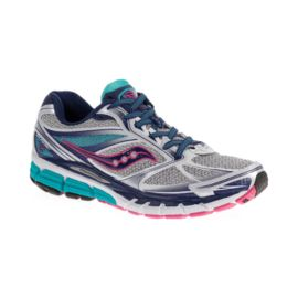 Saucony Women's PowerGrid Guide 8 Running Shoes - Grey/Blue/Pink