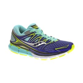 Saucony Women's Triumph ISO Running Shoes - Purple/Teal/Green