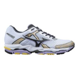 Mizuno Womens' Wave Enigma 4 Running Shoes - White/Yellow/Black