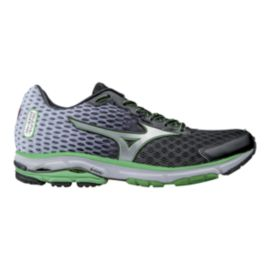 Mizuno Men's Wave Rider 18 Running Shoes - Black/Grey