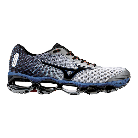 los angeles ecb5a b699e Mizuno Men s Wave Prophecy 3 Running Shoes - White Black Blue   Sport Chek