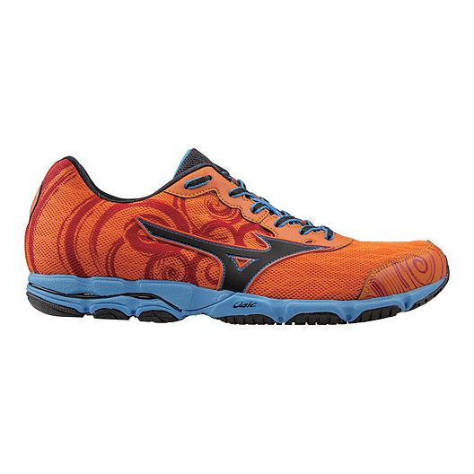 size 40 700eb 195cd Mizuno Men's Wave Hitogami Running Shoes - Orange/Blue ...