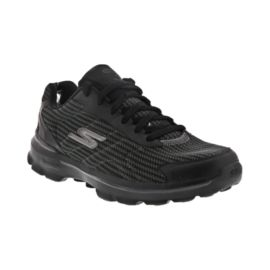 Skechers Men's Go Walk 3 FlyKnit Walking Shoes - Black/Grey