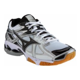 Mizuno Men s Wave Bolt 4 Indoor Court Shoes - White Black Silver ... 56390eb0e8