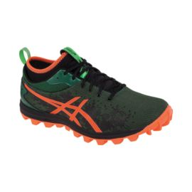 ASICS Men's Gel FujiRunnagade Running Shoes - Black/Green/Orange