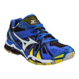 Mizuno Men's Wave Tornado 9 Indoor Court Shoes - Blue/Black/Yellow