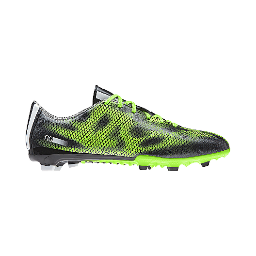 50f084fa8aba3 adidas Men s F10 FG Outdoor Soccer Cleats - Black Electric Green ...