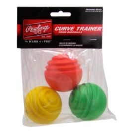 Rawlings Curve Trainer Balls - 3 pack