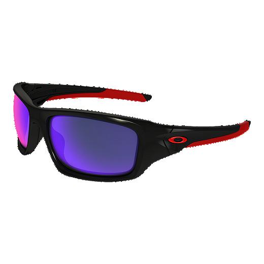 b9f551b665f0e Oakley Valve Sunglasses - Black with Red Iridium Lenses - BLACK